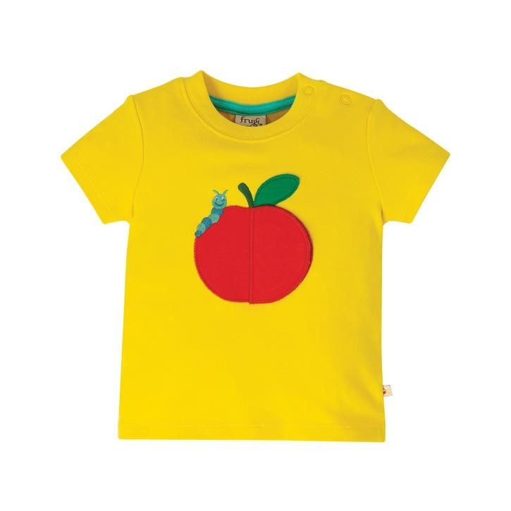 Frugi Playdate T-Shirt  Sunflower/Apple