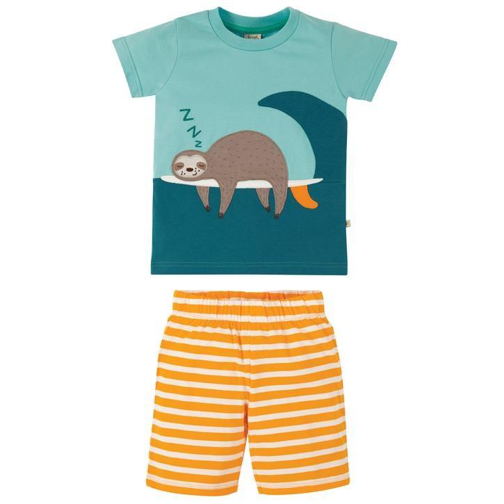 Frugi Praa Schlafanzug  Bright Sky/Sloth