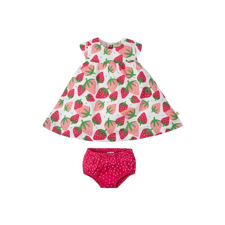 Frugi Pretty Polly Dress Set Scilly Strawberries