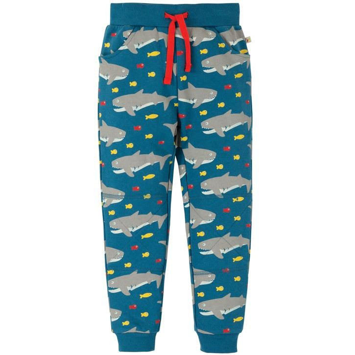 Frugi Printed Snug Joggers  Sharking Around 7-8J