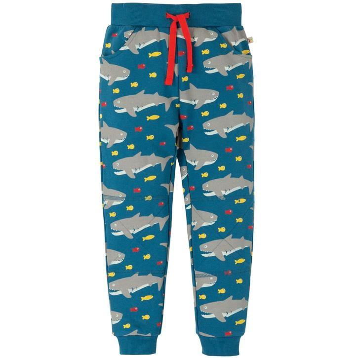 Frugi Printed Snug Joggers  Sharking Around