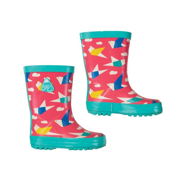 Frugi Puddle Buster Wellington Boots  Origami Flight