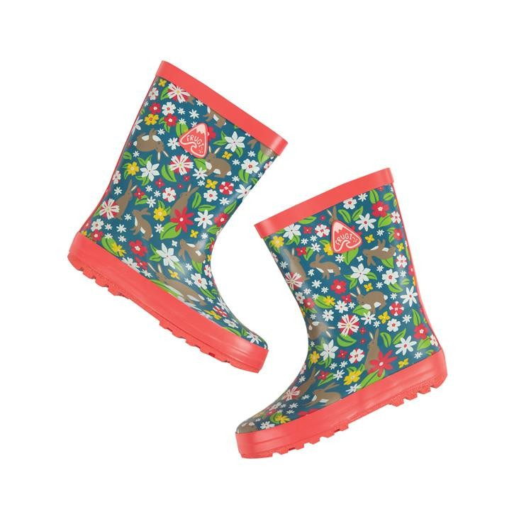Frugi Puddle Buster Wellington Boots  Rabbit Fields 33