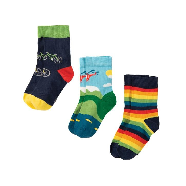 Frugi Rock My Socken 3er Pack  Bike Multipack