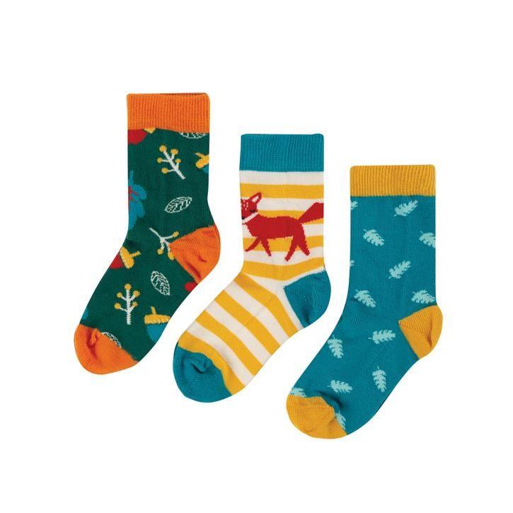 Frugi Rock My Socks 3er Pack UK Fox Multipack_AW20
