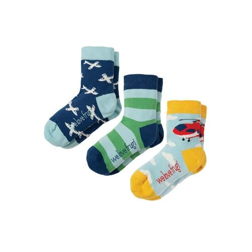 Frugi Rock My Socks 3 Pack Scilly Skybus Multipack
