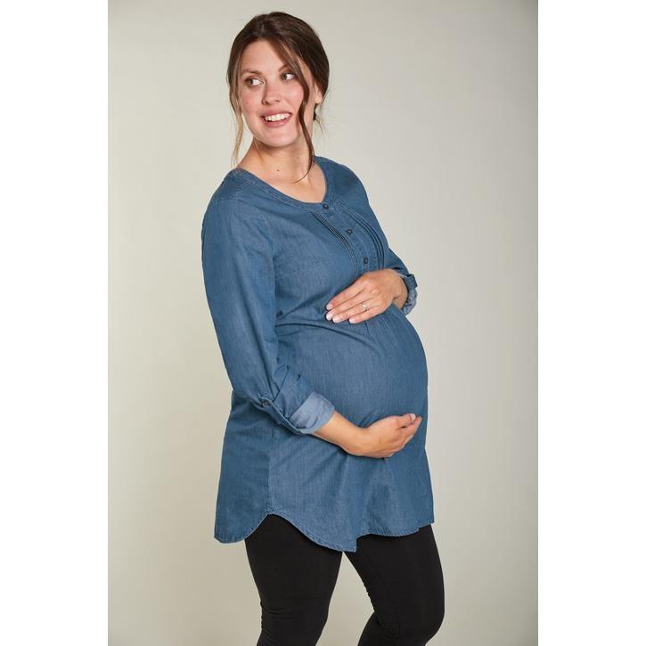 Frugi Schwangerschafts Kleid  Denim_AW20