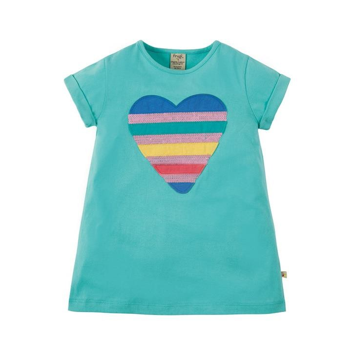 Frugi Sophie Sequin Applique Top St Agnes/Sequin Heart