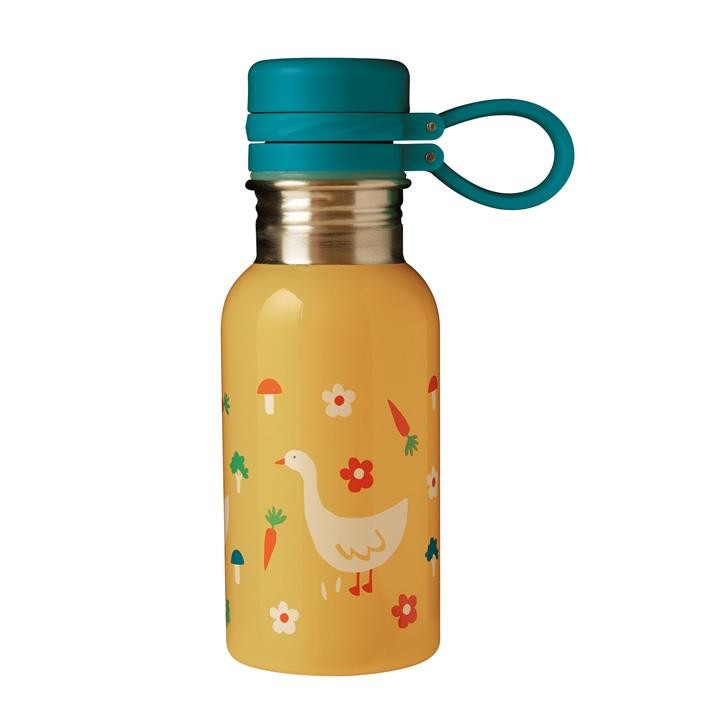 Frugi Splish Splash Steel Bottle, Bumblebee/Duck, O/S