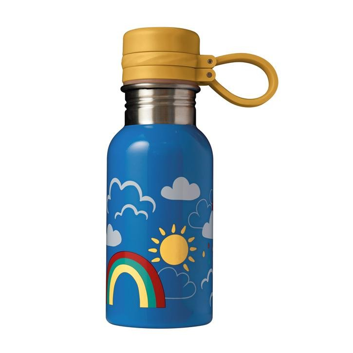 Frugi Splish Splash Steel Bottle, Rainbow Skies, O/S