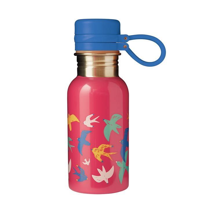 Frugi Splish Splash Steel Bottle, Watermelon/Bird, O/S