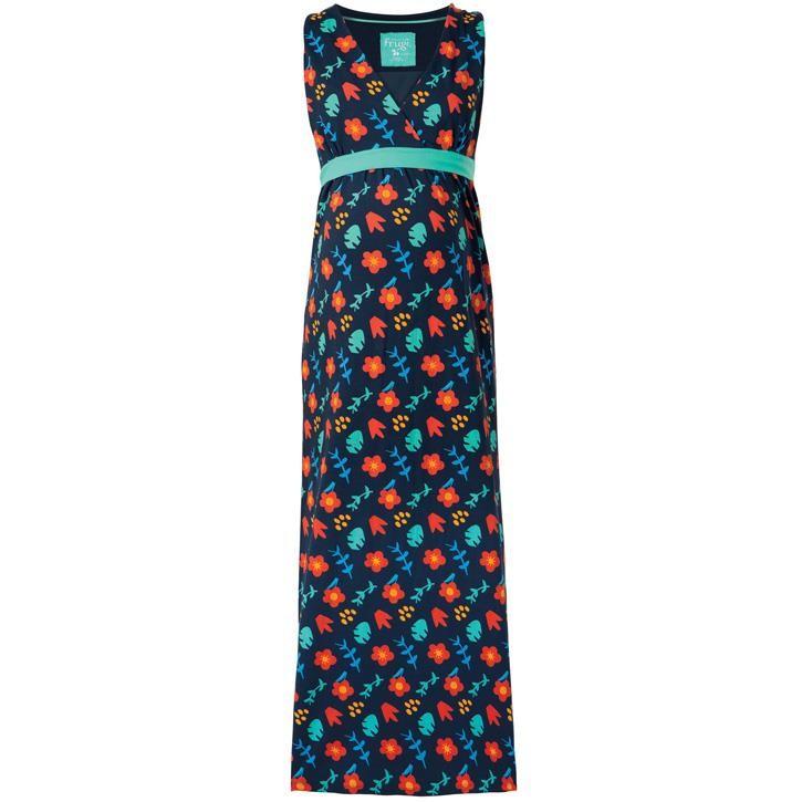 Frugi Summer Maxi Kleid  Indigo Floral