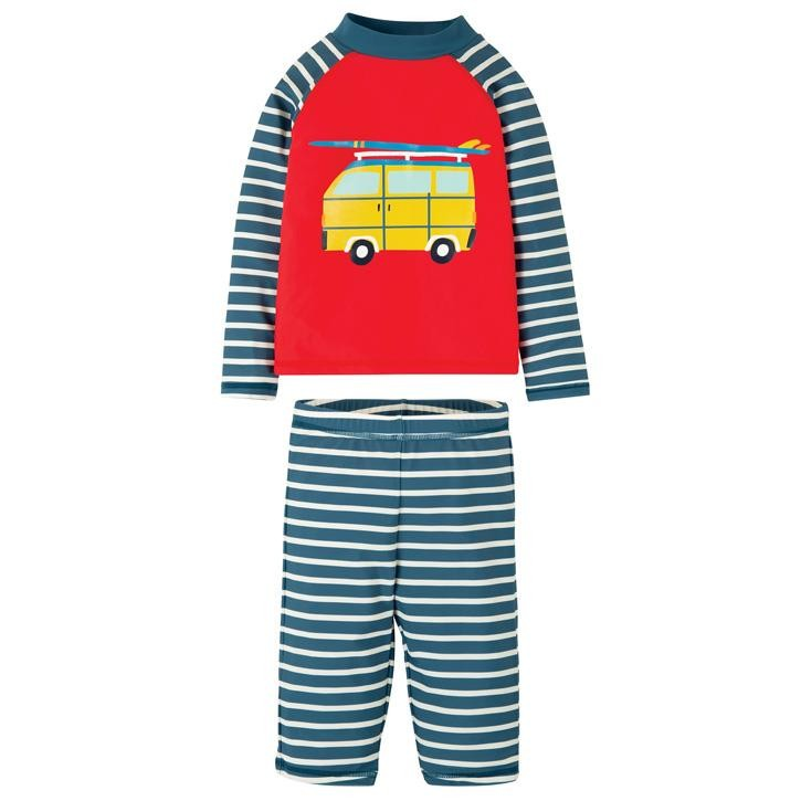 Frugi Sun Safe Set  Koi Red/Camper
