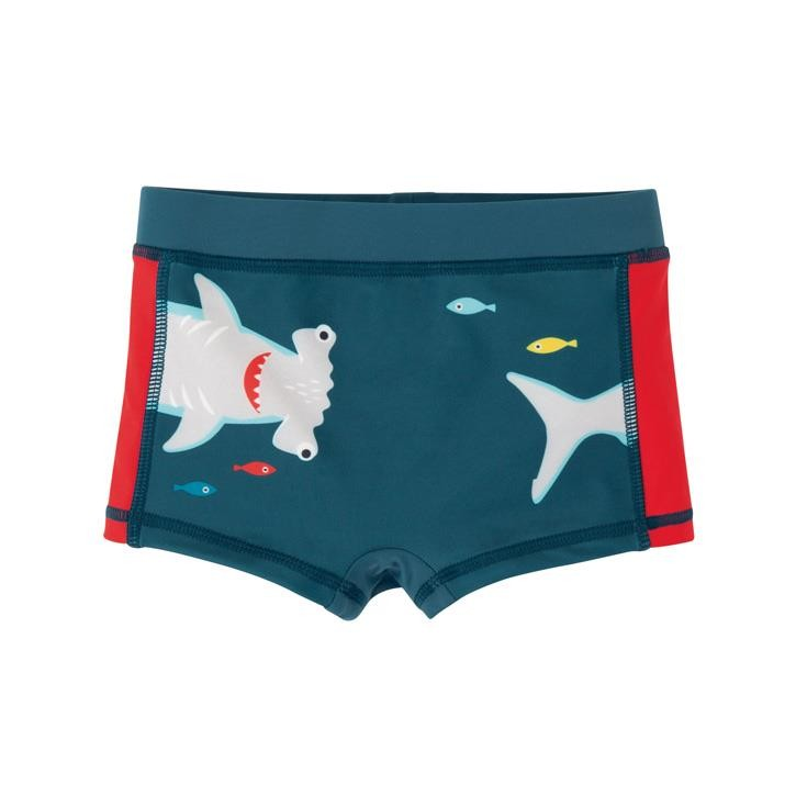 Frugi Tide Pool Badehose  Steely Blue/Shark