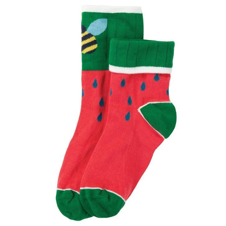 Frugi Tooty Sock  Watermelon