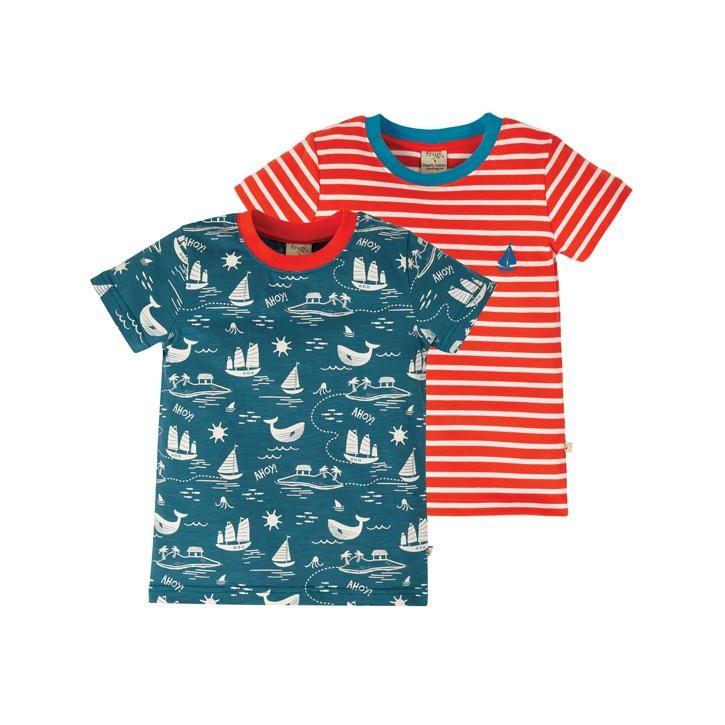 Frugi Tresco T-Shirts 2 Pack  Island Adventure