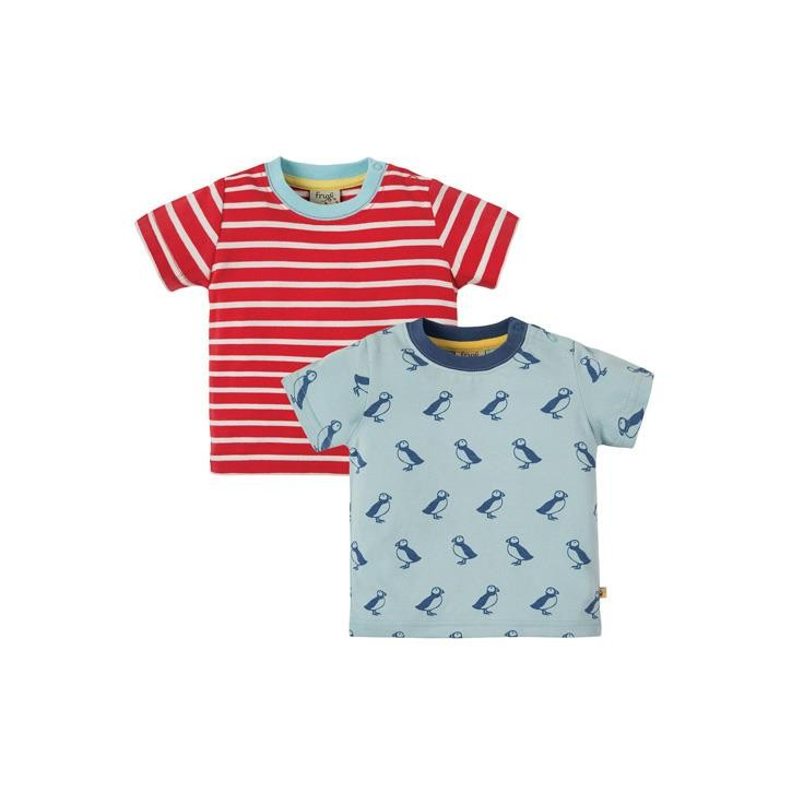 Frugi Tresco T-shirts Puffin Island