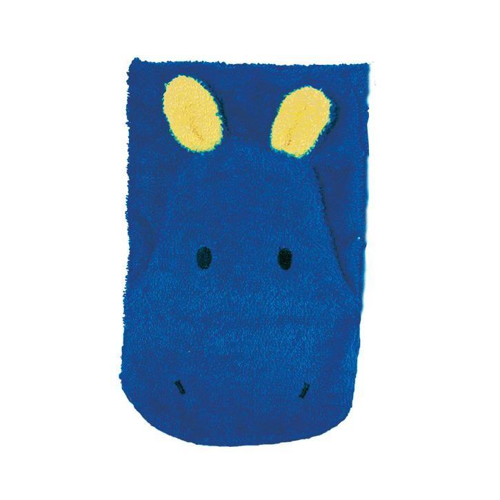 Fürnis BIO Waschlappen Hippo blau