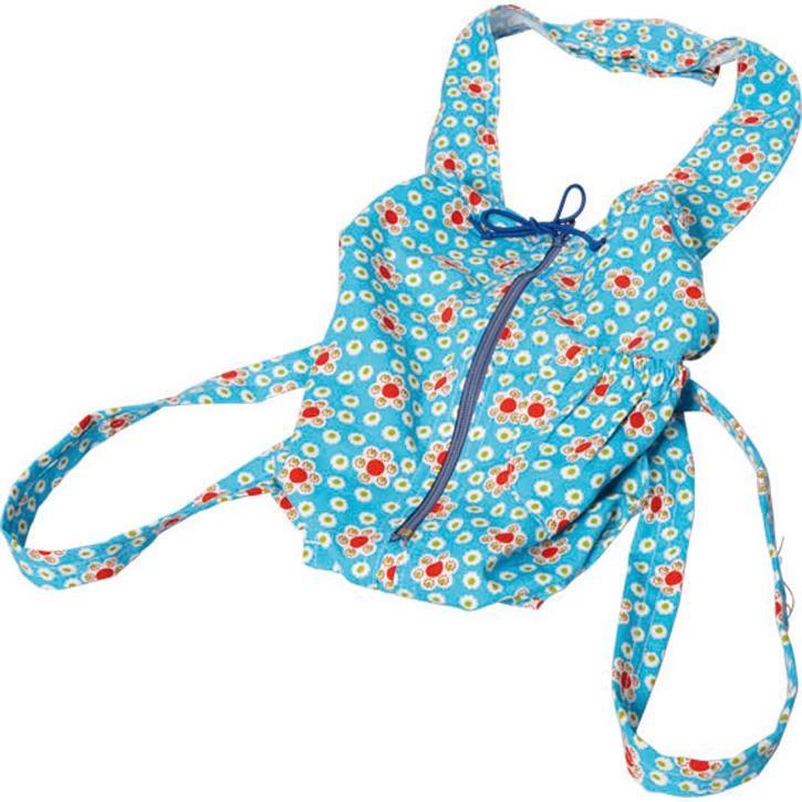 Glückskäfer 521902 Puppentragesack,  blau