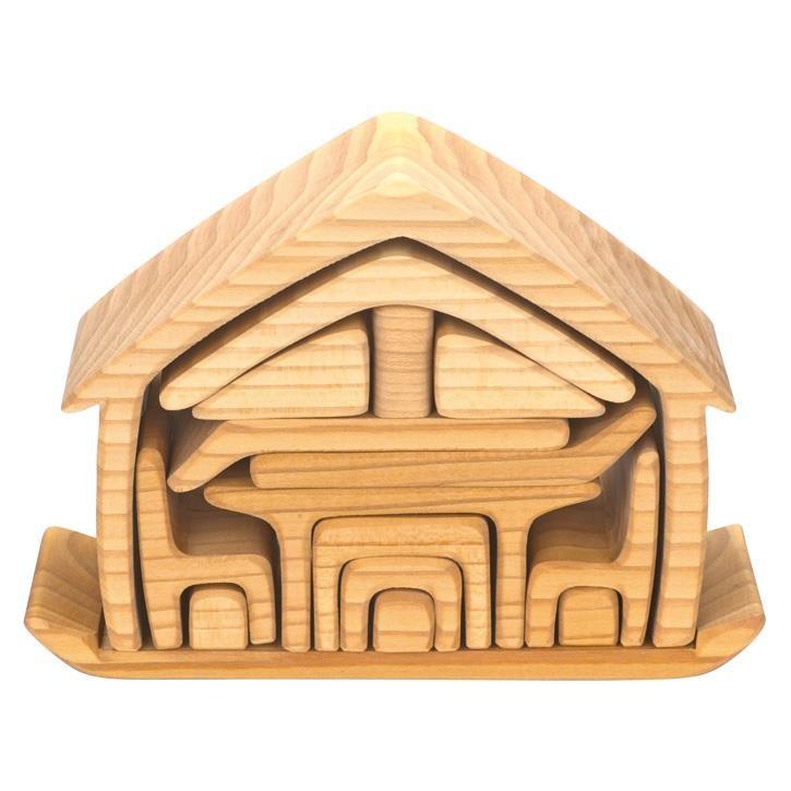 Glückskäfer 523264 Haus mit Möbel, natur