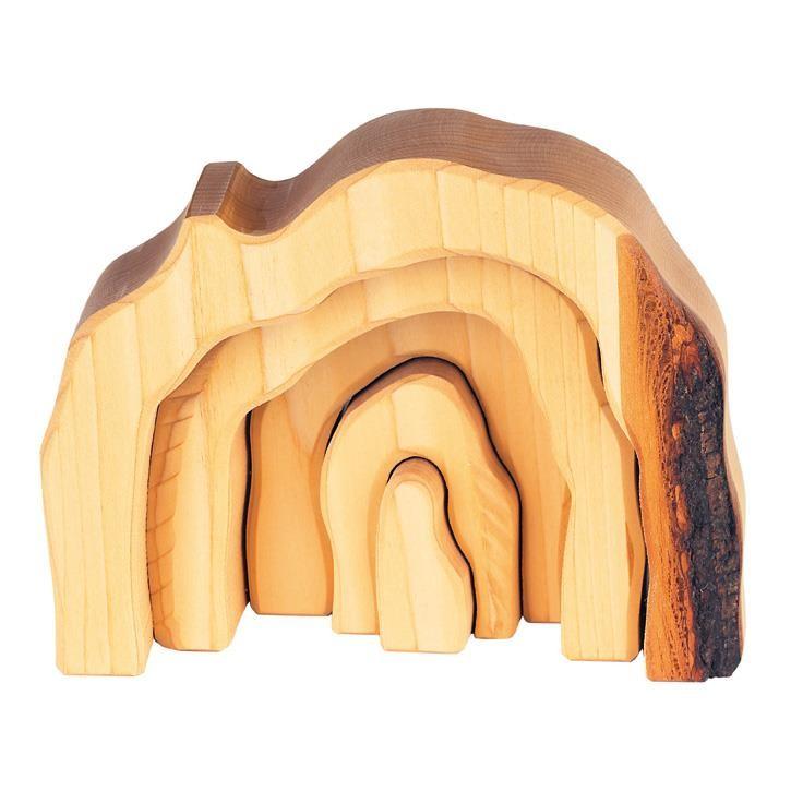 Glückskäfer 523322 Höhlen-Set, 5 teilig, natur