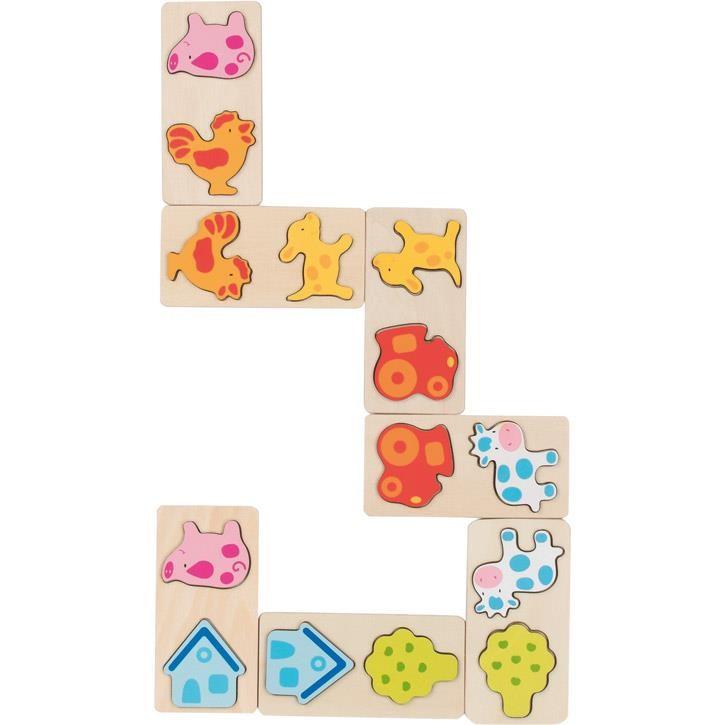 Goki 3D Dominospiel Bauernhof 56814 2+ Holz