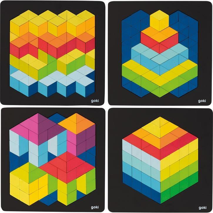 Goki 3D Puzzle, 1 Stück,  4+ Holz