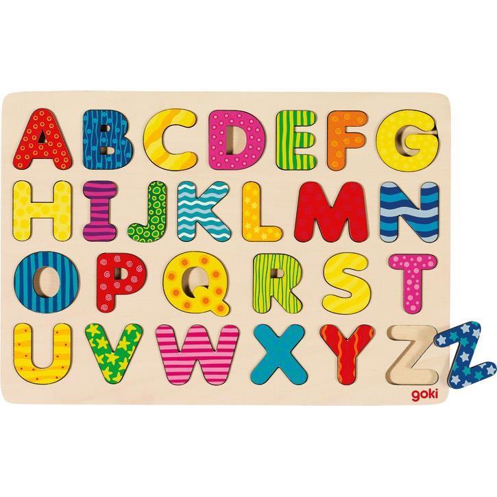 Goki Alphabetpuzzle 57672 3+ Holz