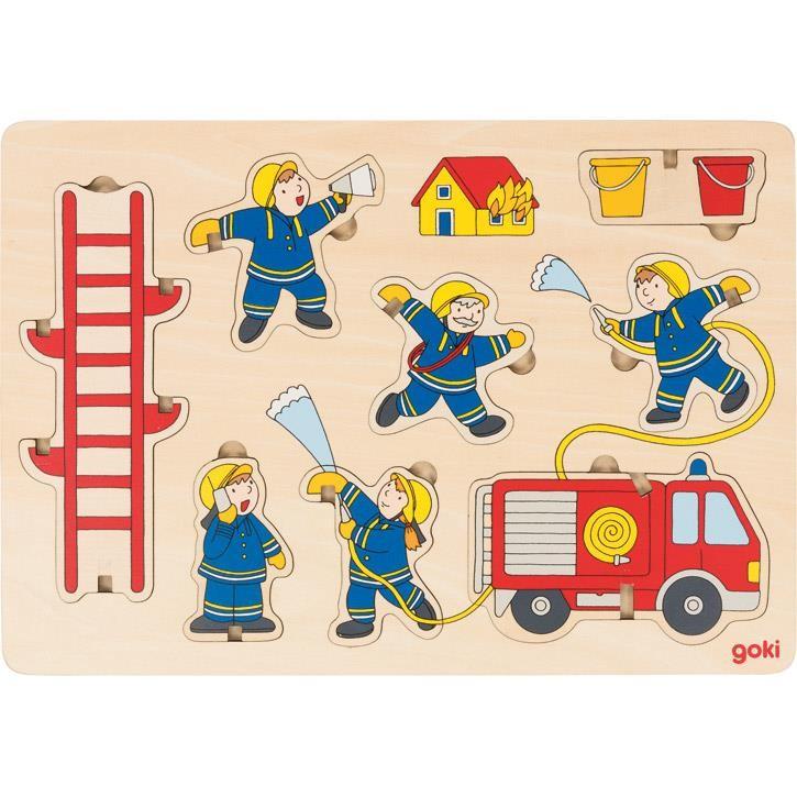 Goki Aufstellpuzzle Feuerwehr 57471 2+ Holz