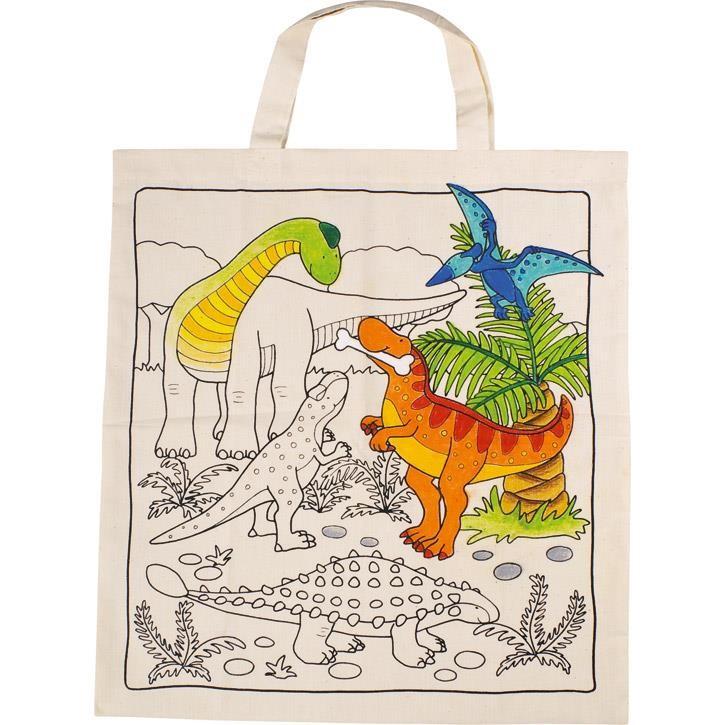 Goki Baumwollbeutel Dinosaurier 58809 3+ Textil