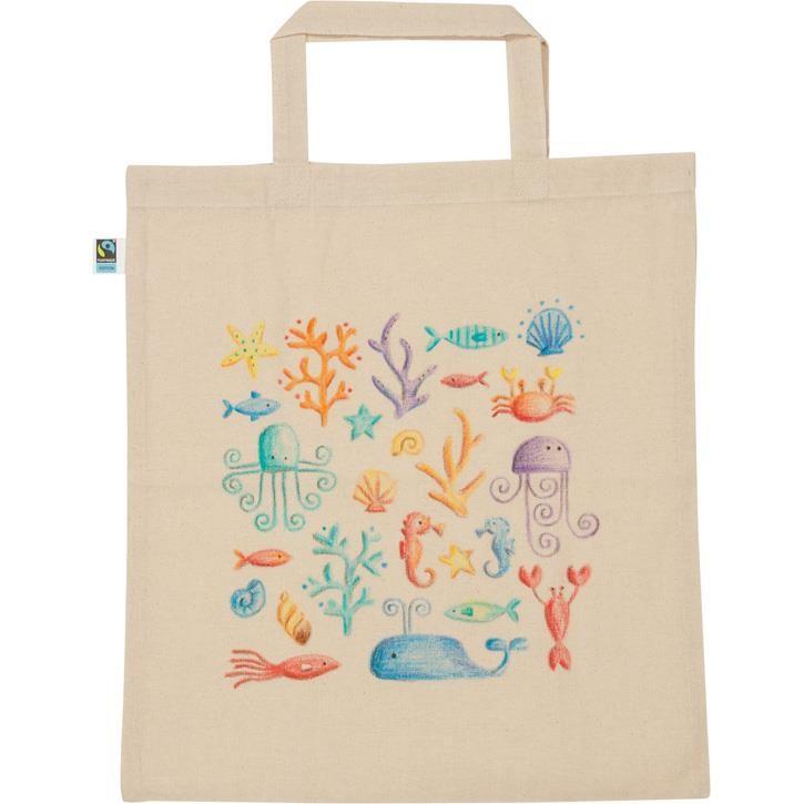 Goki Baumwollbeutel zum anmalen Fairtrade 3+ Textil 58421