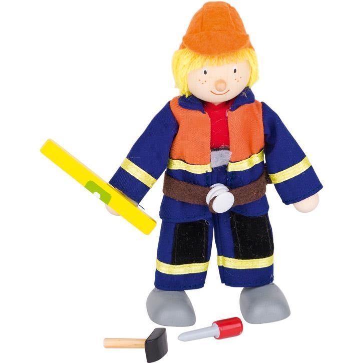 Goki Biegepuppe Bauarbeiter I 51630 3+ Holz, Textil