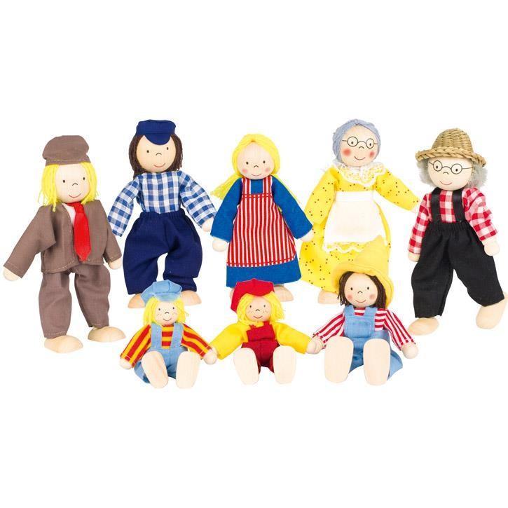 Goki Biegepuppen Bauernfamilie II SO305 3+ Holz, Textil