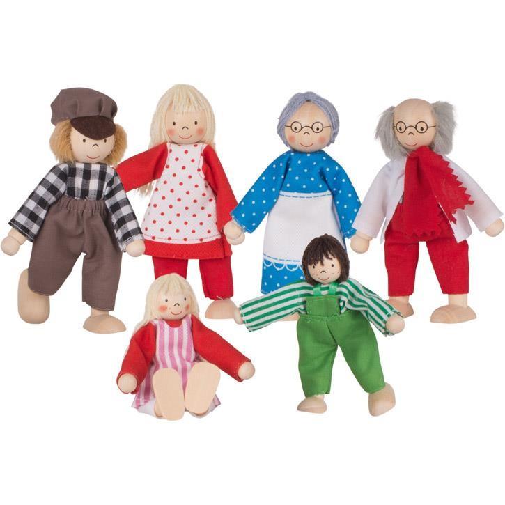 Goki Biegepuppen Bauernfamilie I SO204 3+ Holz, Textil