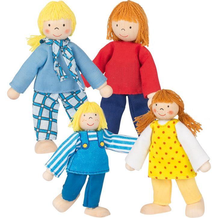 Goki Biegepuppen Junge Familie 51955 3+ Holz, Textil