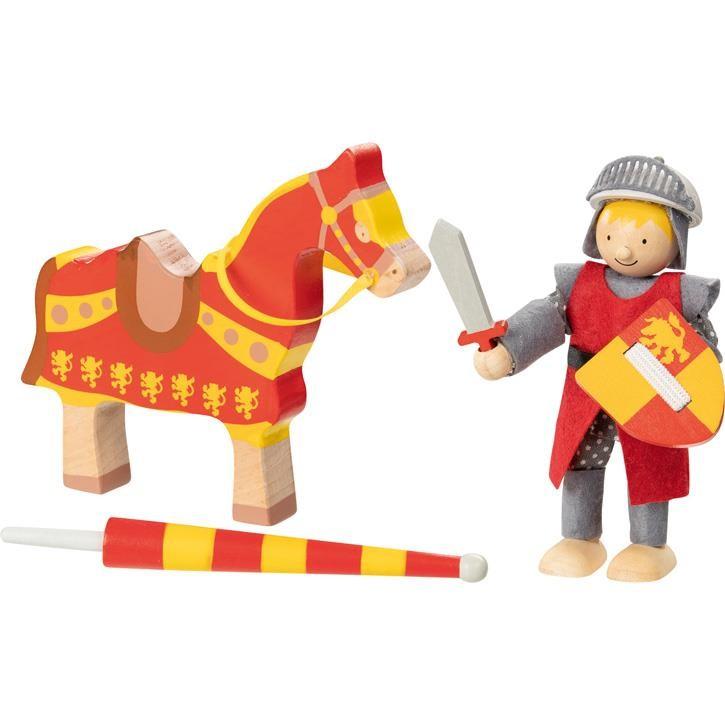 Goki Biegepuppe Ritter Artus mit Pferd 51720 3+ Holz, Textil