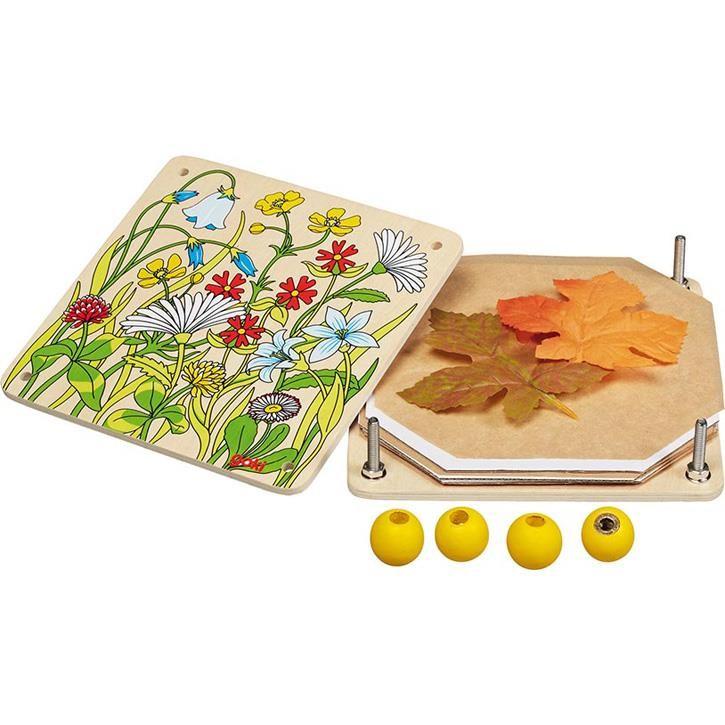Goki Blumenpresse Frühlingswiese 58603 3+ Holz, Pappe