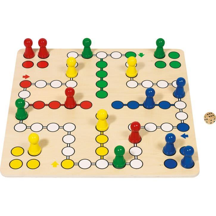 Goki Brettspiel Ludo 56033 4+ Holz