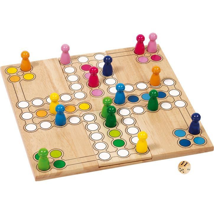 Goki Brettspiel Ludo 56914 4+ Holz