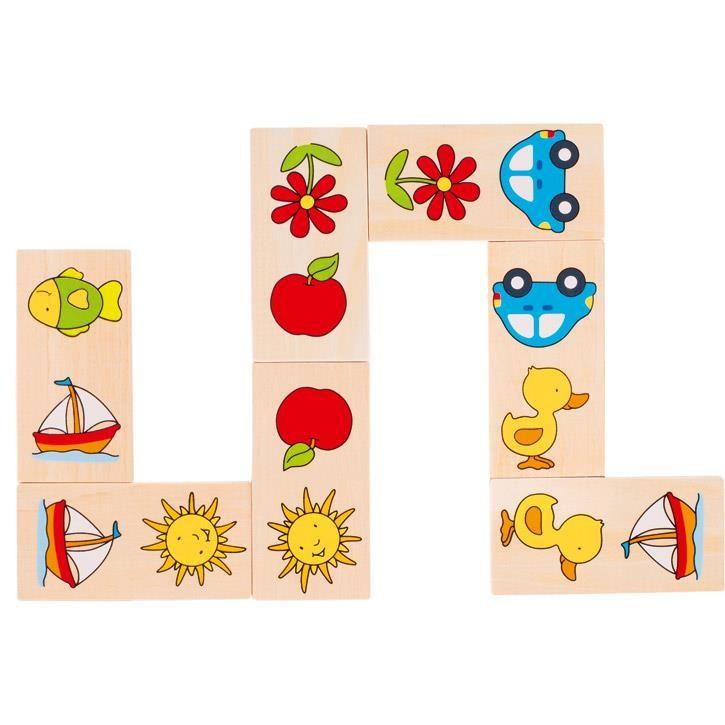 Goki Dominospiel Dominiques Domino 56815 2+ Holz