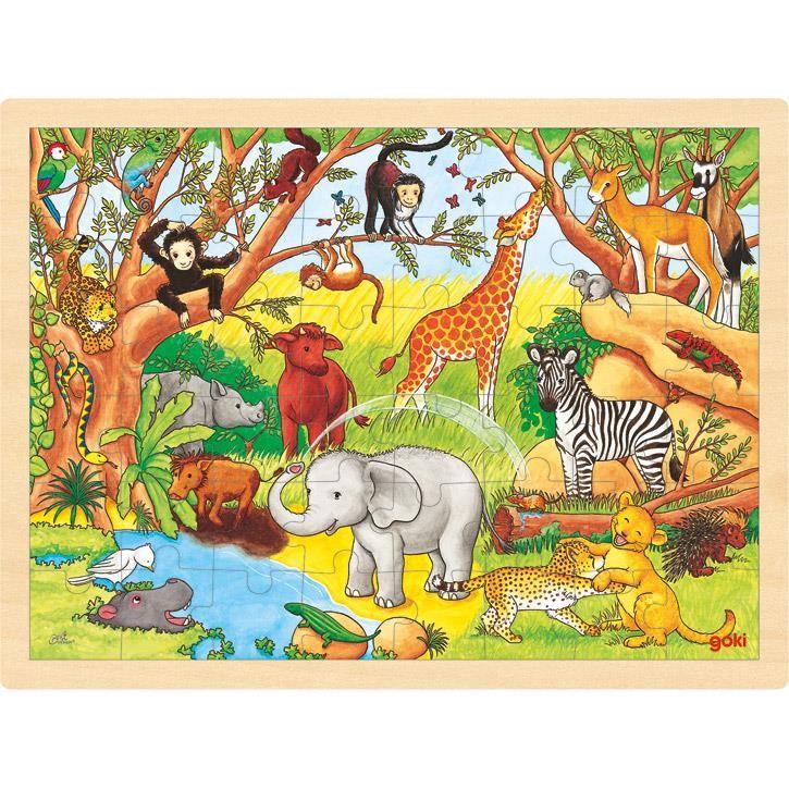 Goki Einlegepuzzle Afrika 57892 3+ Holz