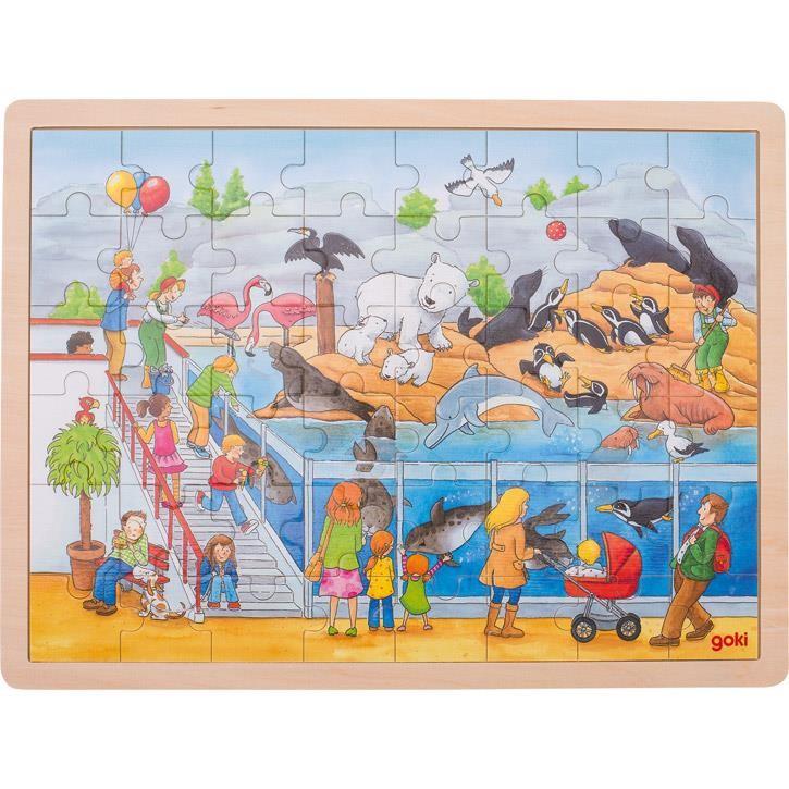 Goki Einlegepuzzle Ausflug in den Zoo 57744 3+ Holz
