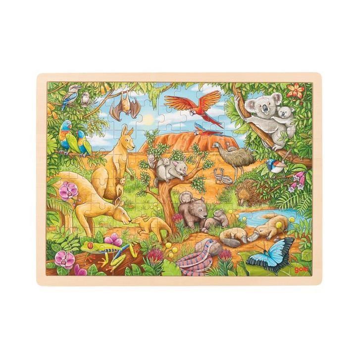 Goki Einlegepuzzle Australische Tierwelt 57441 3+ Holz
