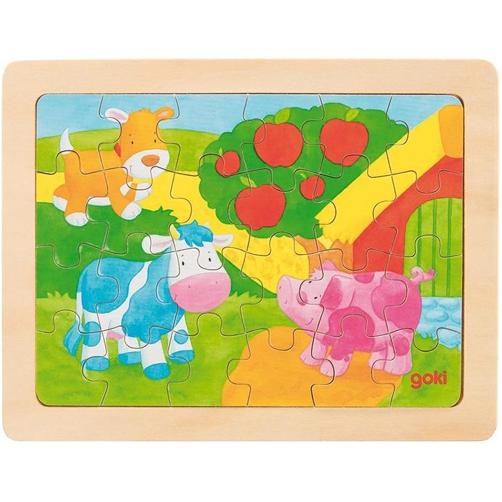 Goki Einlegepuzzle Bauernhof 57700 3+ Holz 1 Stück