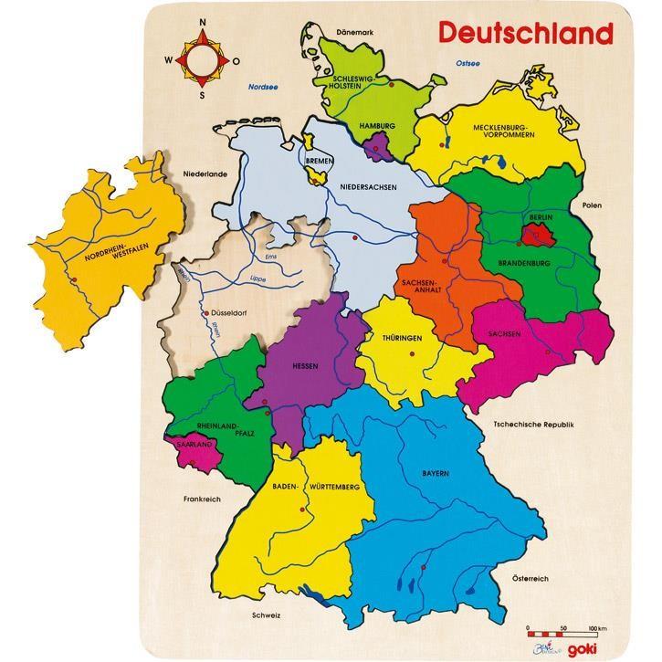 Goki Einlegepuzzle Deutschland II 57860 4+ Holz