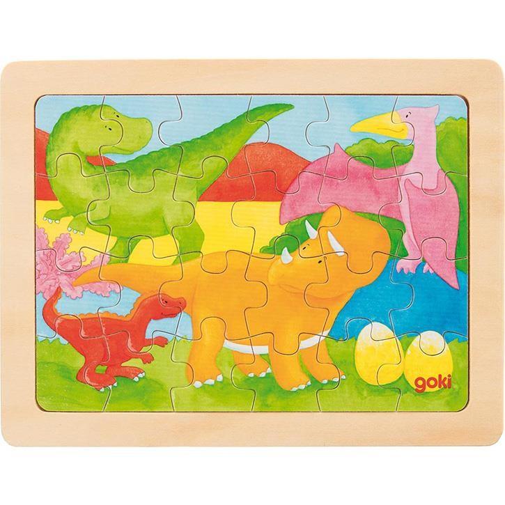 Goki Einlegepuzzle Dino 57700 3+ Holz 1 Stück