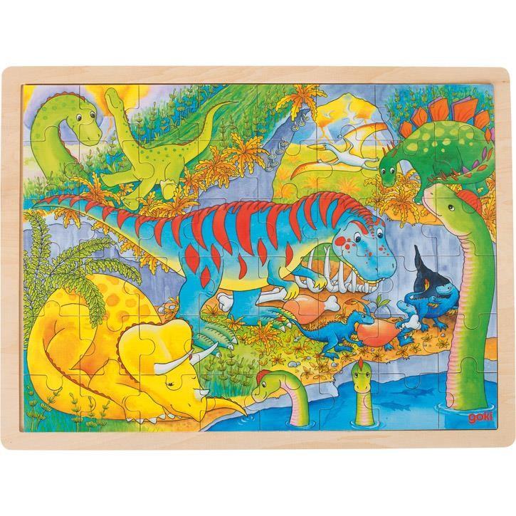 Goki Einlegepuzzle Dinosaurier 57724 3+ Holz