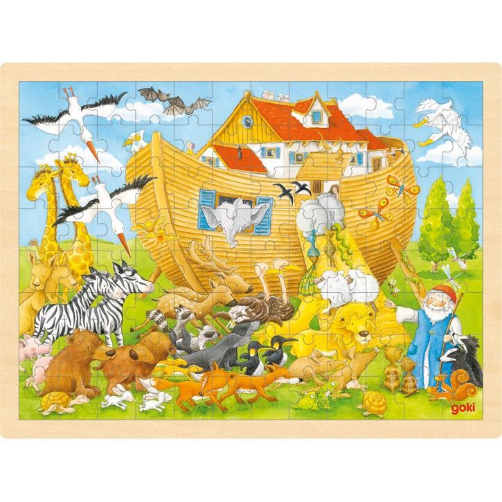 Goki Einlegepuzzle Einzug in die Arche Noah 57535 3+ Holz