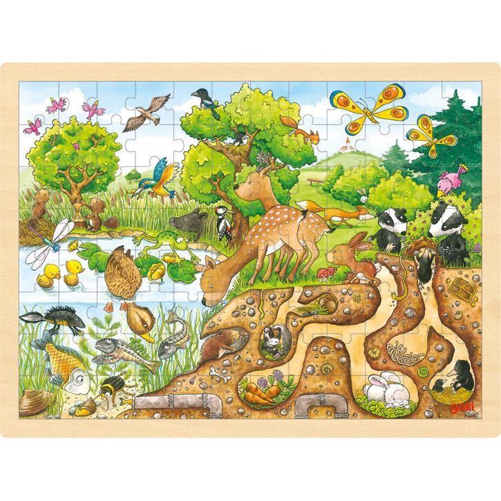 Goki Einlegepuzzle Erlebnis Natur 57582 3+ Holz