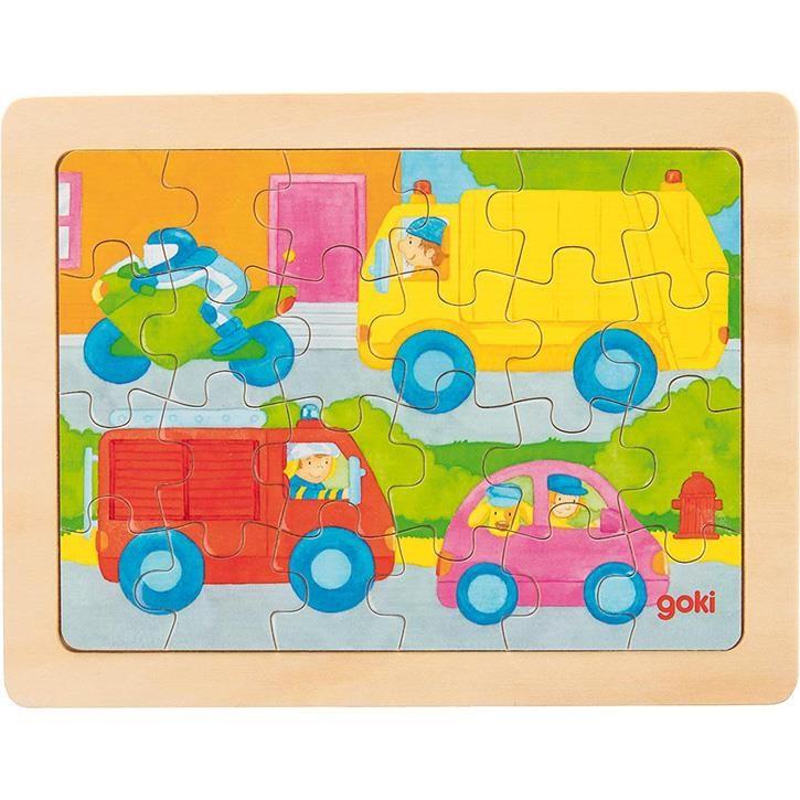 Goki Einlegepuzzle Fahrzeuge 57700 3+ Holz 1 Stück